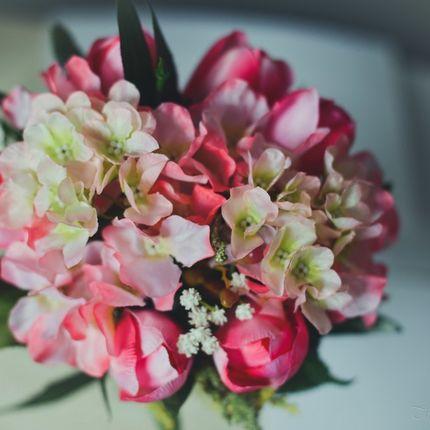 Букет невесты в благородных оттенках розового