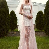 """В НАЛИЧИИ свадебное платье """"Клеменса""""  Цвет айвори, нижняя юбка в пол по нашему заказу!"""