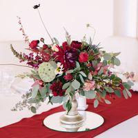 Композиция на гостевой стол. Свадьба в цвете марсала
