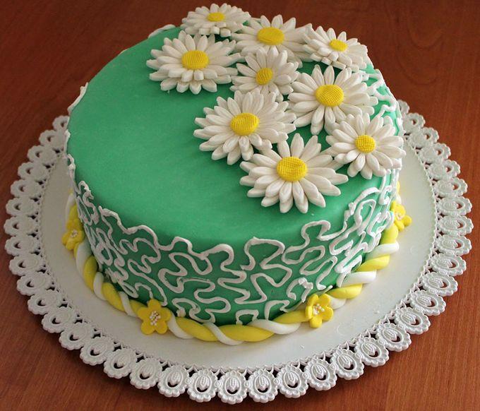 Как сделать ромашки на торт 969