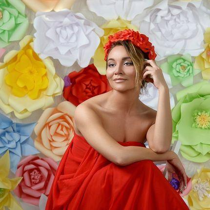 Фон из бумажных цветов