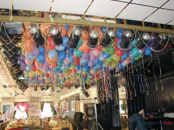 Шарики под потолок - фото 28633 Фабрика Шаров - оформление воздушными шарами