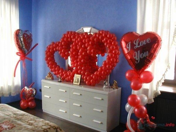 Оформление номера в гостинице - фото 28634 Фабрика Шаров - оформление воздушными шарами