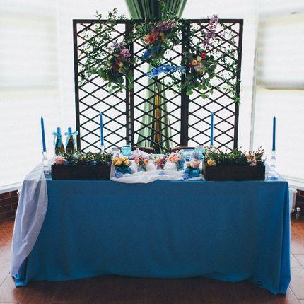 Оформление места для свадебного ужина