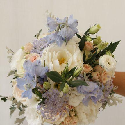 Букет невесты Бело-голубая нежность