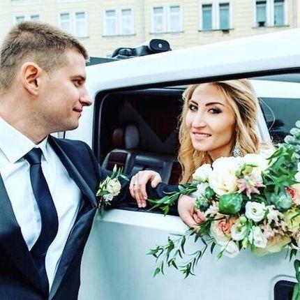 Букет невесты с эустомой и эвкалиптом