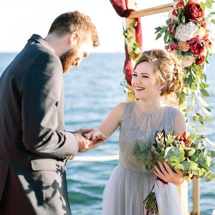 Проведение церемонии на побережье