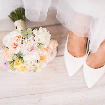 Классический круглый букет невесты