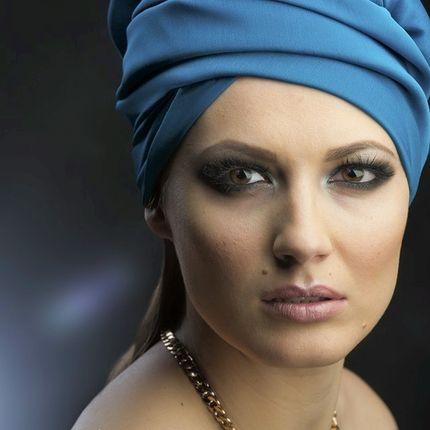 Вечерний или свадебный макияж Халкидики