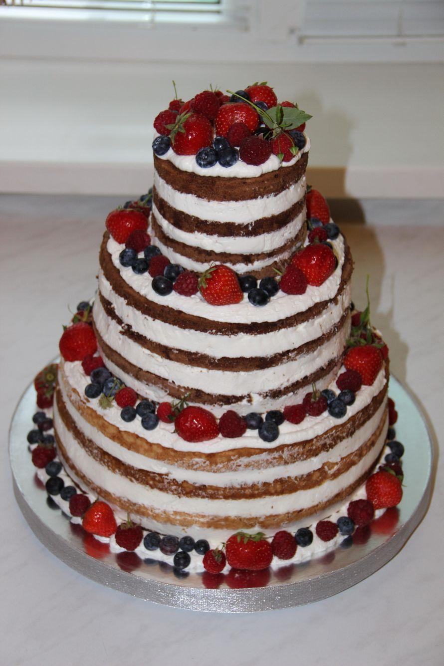 Двухъярусный бисквитный торт своими руками