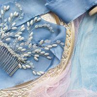 Объемный свадебный гребень для прически невесты