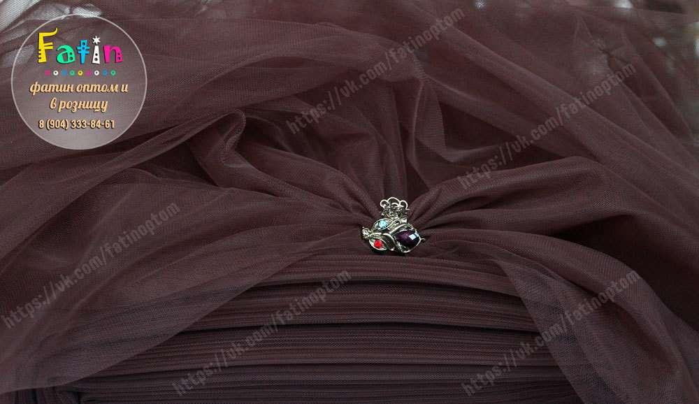 В НАЛИЧИИ  Еврофатин - мягкий Ширина 3 метра  Артикул - М 050 (коричневый)  Цена 180 руб/метр Страна-производитель Турция *оптовую цену уточняйте у администратора группы. - фото 8638462 Фатин и еврофатин от Анны Акаевой