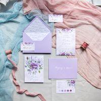"""Приглашение на свадьбу """"Сиреневые цветы"""""""