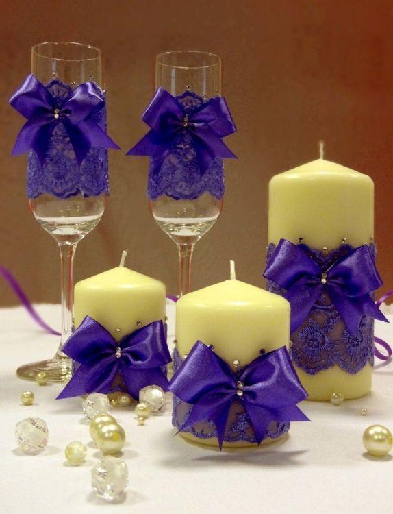 Свеча в бокале своими руками на свадьбу