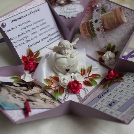 Свадебная подарочная коробочка