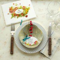 Приглашение, оформление стола и карточки рассадки гостей