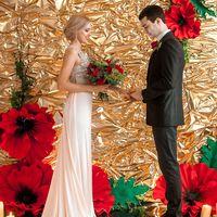 Opium gold.  Свадьба с маками.