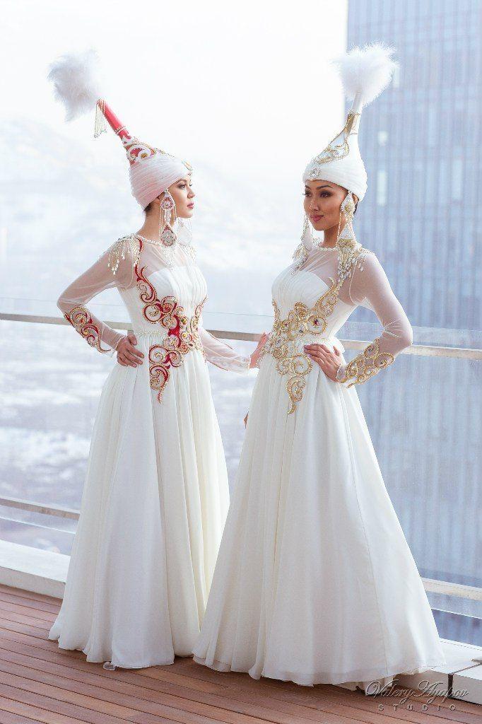 Казахское свадебное платье на кыз узату - фото 9051024 Салон казахских свадебных платьев Золотая пуговица