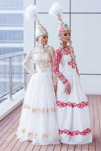 Казахское свадебное платье на кыз узату - фото 9051030 Салон казахских свадебных платьев Золотая пуговица