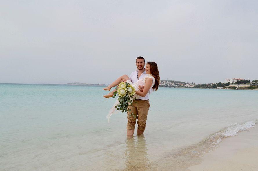 Свадебный букет с протеями
