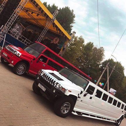 Лимузин Хаммер красный в аренду, 1 час