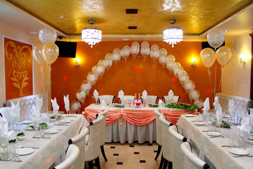 """Праздничное оформление зала шарами, тканью и др - фото 977179 Праздничное агентство """"Пеппи"""""""