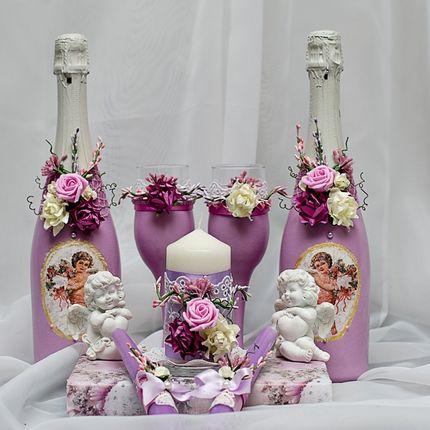 Декорирование шампанского, свечей, бокалов