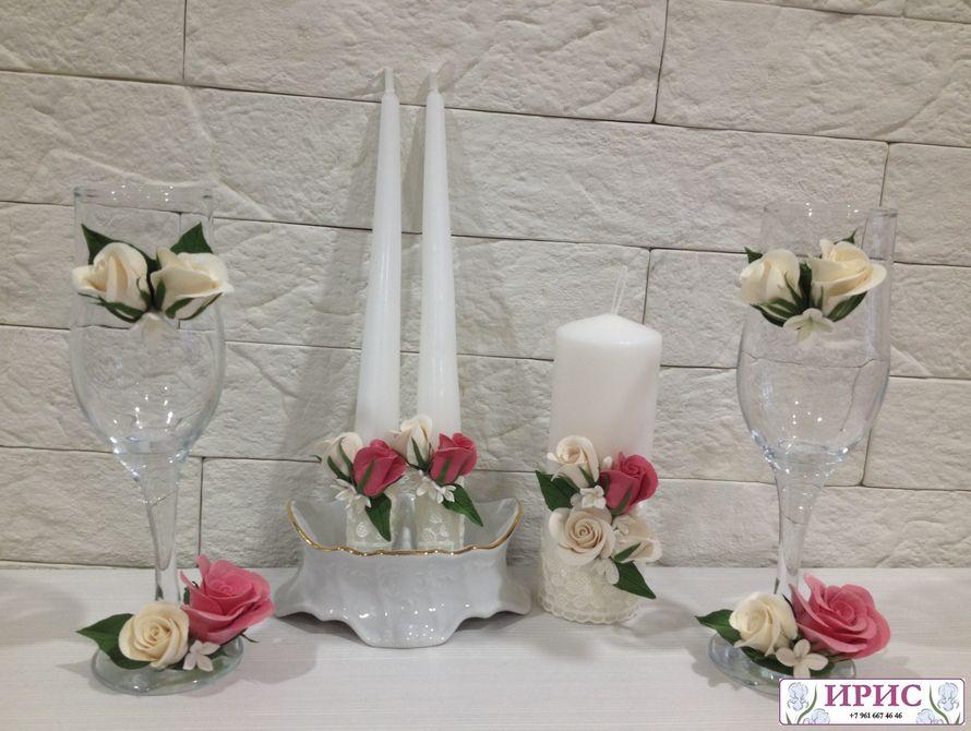 """Фото 9394150 в коллекции Свадебные фужеры, свечи - Мастерская аксессуаров из глины """"Ирис"""""""