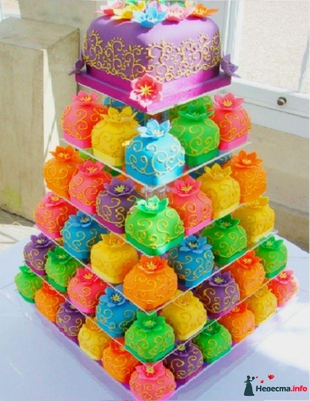 Яркий торт фото
