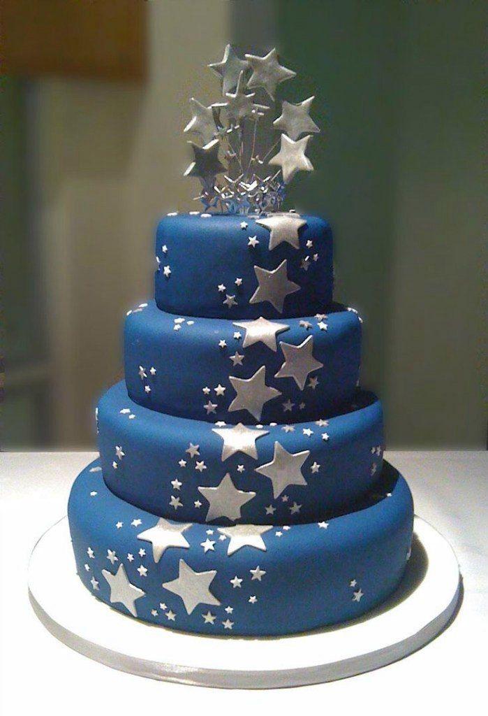 Синий торт своими руками 19