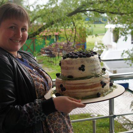 Торт на основе маскарпоне с ягодами