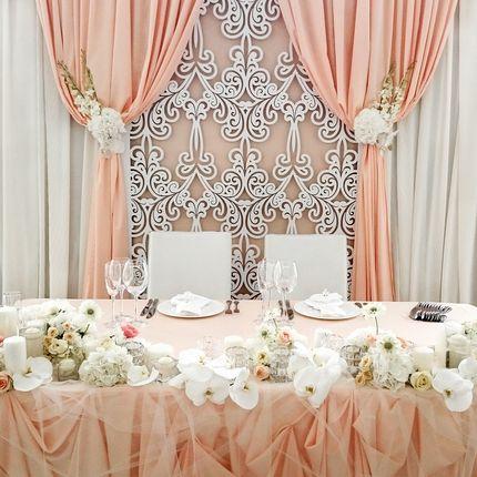 Декор зоны жениха и невесты