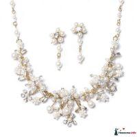 Длина ожерелья: 41-46 см  Длина сережек: 3.5 см