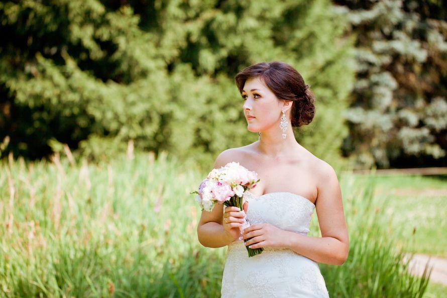 невеста Аня макияж, прическа Таня Колтыгина - фото 1427995 Визажист-стилист Колтыгина Таня