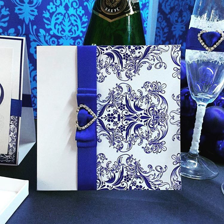 """Свадебная открытка """"Фарфор"""" - фото 10072374 Anna Love приглашения и бонбоньерки на заказ"""