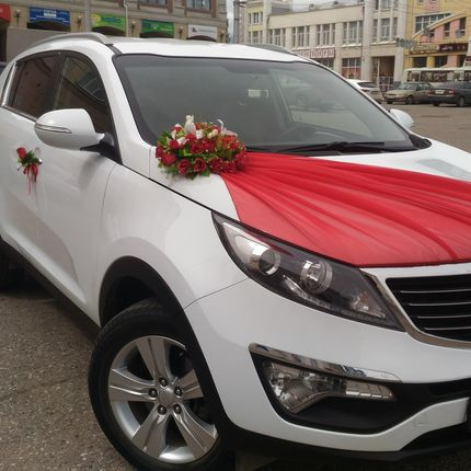 Аренда авто белого цвета Киа Спортейдж 3, 1 час