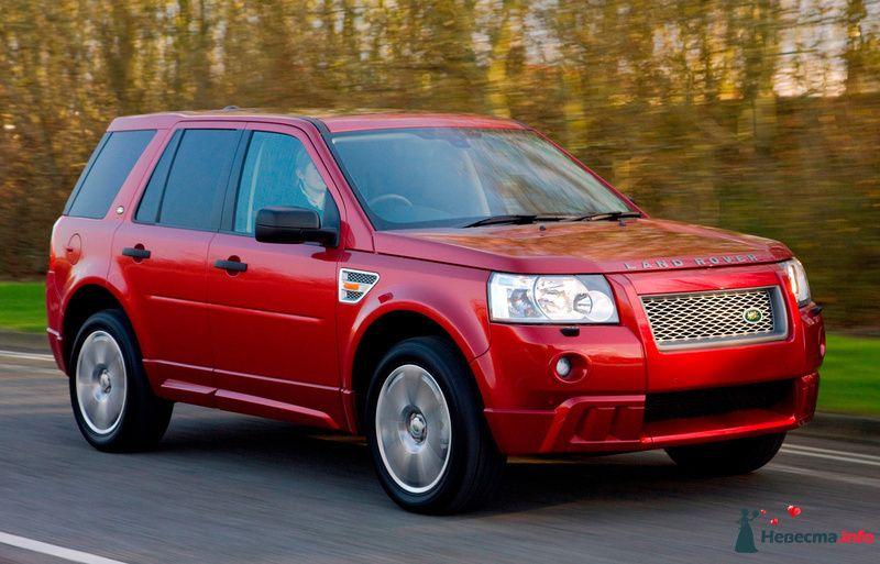 """Красный """"Land Rover"""" на фоне осеннего леса. - фото 127583 Sapphira"""