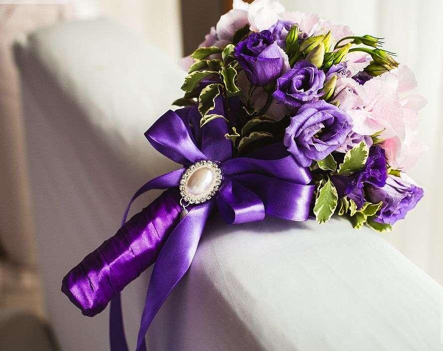 Новорожденной, букет для невесты 10 в сиреневом цвете фото