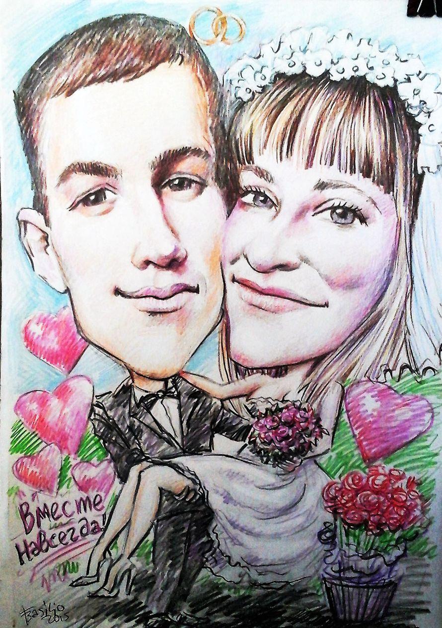 """Фото 13742106 в коллекции Шаржи на свадьбе, вживую и с фото - Шаржист """"Базилио"""""""