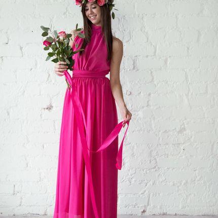 Платье New York - шифон фуксия