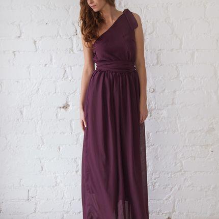 Платье  Deli - баклажан шифон