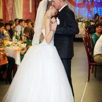 """На Екатерине свадебное платье """"Сирень"""" с прозрачным корсетом."""