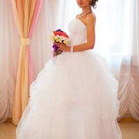 """На Ольге свадебное платье """"Арина""""  с подъюбником на 3 кольца."""