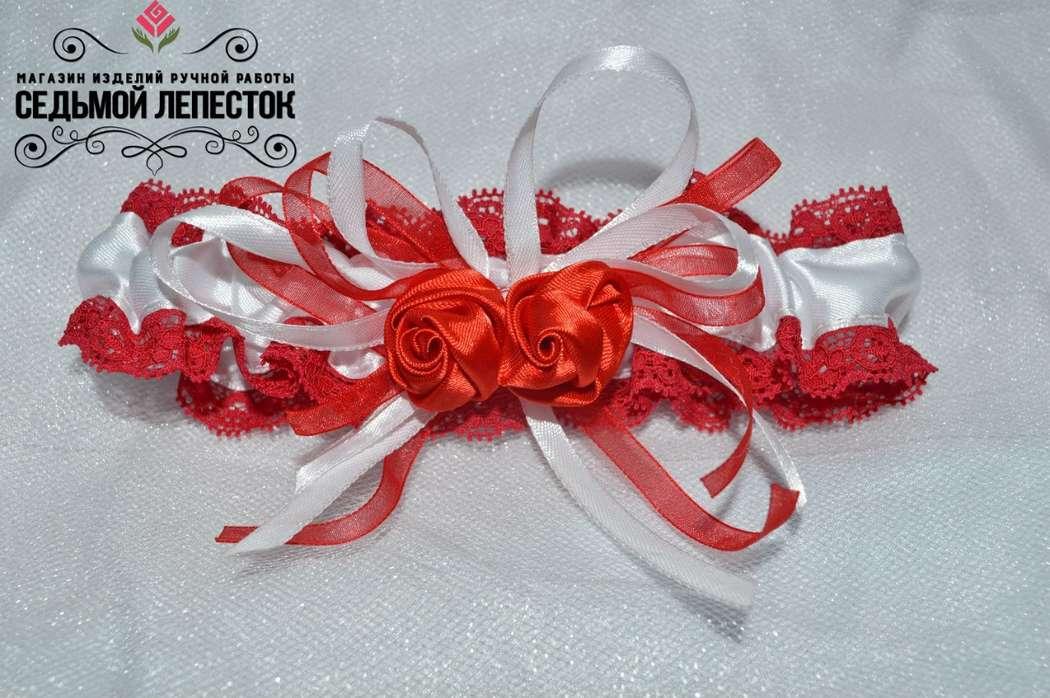 Подвязка для невесты  Цена 500 руб Цвет ленты и декора могут быть любыми Для обхвата ноги от 35 до 48 см (другой размер на заказ)  #подвязка #подвязкадляневесты #подвязканасвадьбу - фото 10460396 Свадебные аксессуары Седьмой лепесток
