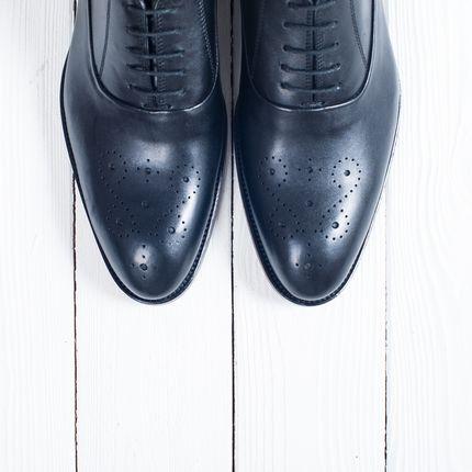 Обувь жениха Оксфорды чёрного цвета