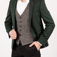 Приталенный пиджак изумрудного цвета