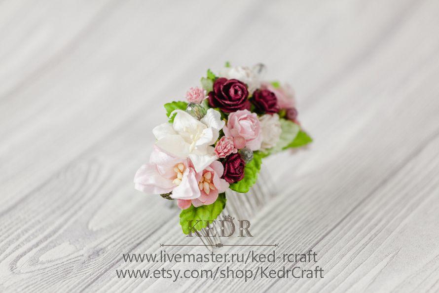 Фото 10569892 в коллекции цветочный гребень невесты - Авторская мастерская аксессуаров Kedr