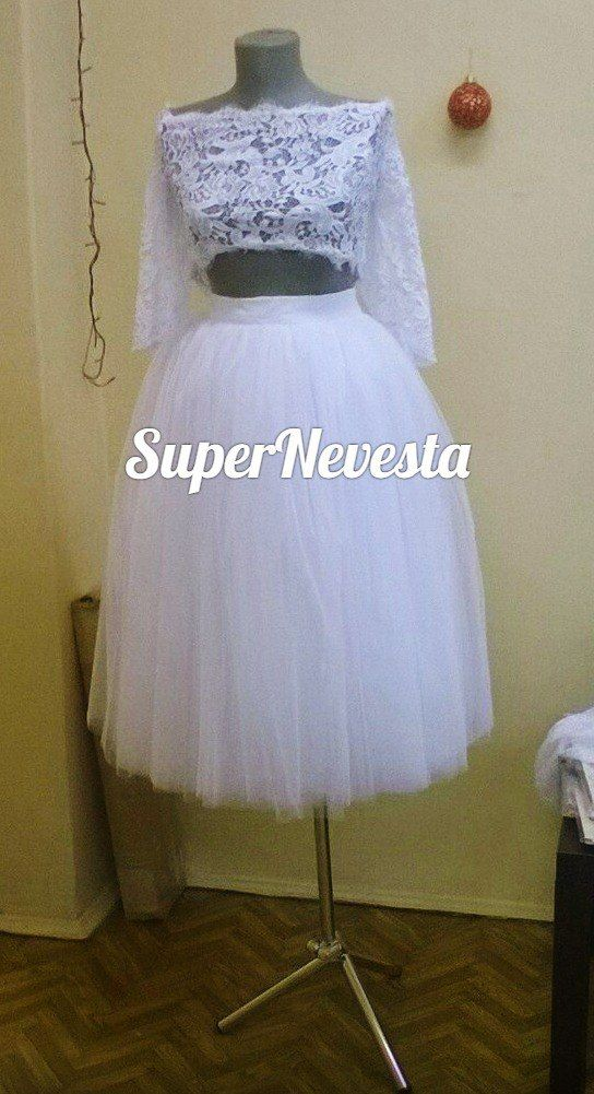 В наличии 42-44р.  Цвет белый, двойная пышность 9 слоев, очень мягкая. - фото 13699222 Konfiture atelier - мастерская свадебных платьев