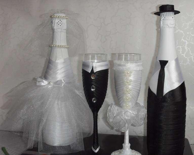 Свадебные бутылки жених и невеста своими руками