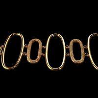 Браслет вес 59,27 золото 585, фианиты